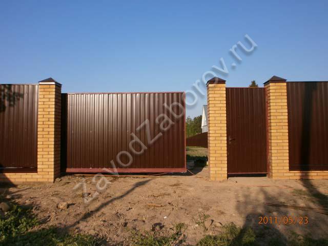 Откатные ворота люберцах сколько стоит забор на дачу